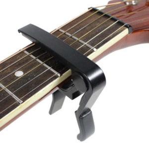 Easy clamp guitar capo