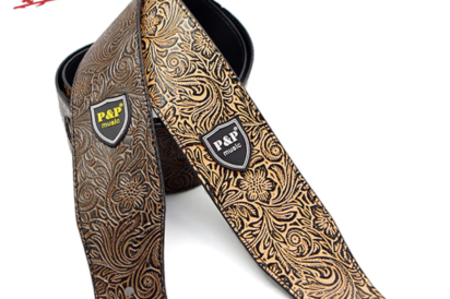 PU leather guitar strap (Embossed)
