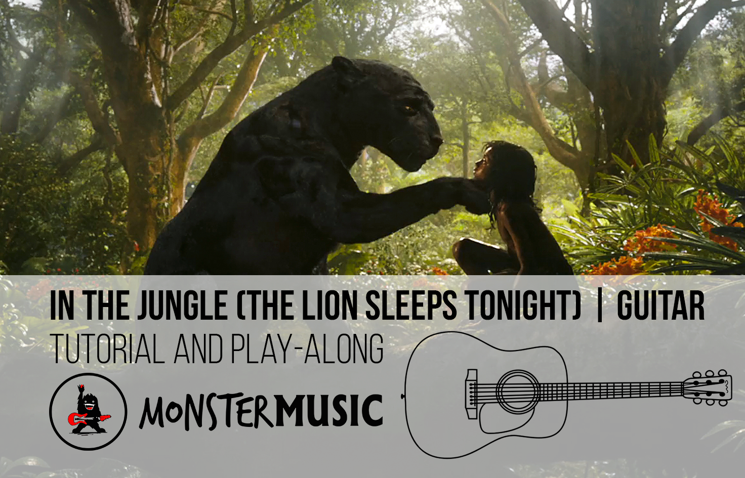 In The Jungle The Tokens Guitar Tutorial Monster Music Nz